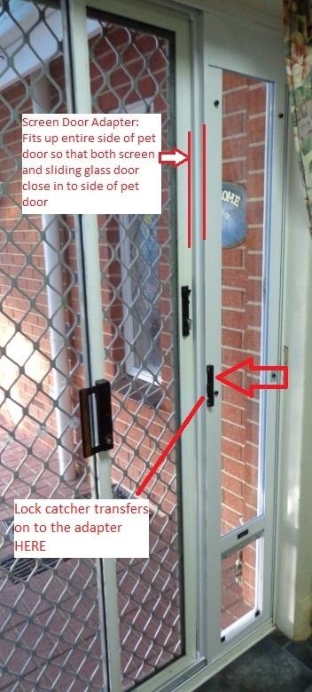 Screen Door Adapter Accessory Modern Pet Doors
